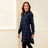 Стильная фланелевая рубашка туника в клетку,тренд этого сезона Esmara размер евро 40,упаковка!
