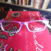 Новинка. Имиджевые очки с защитой от солнца в пасмурный день.Розовый перламутр. UV 400