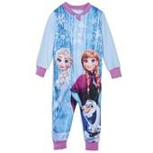 Яркий флисовый комбинезон на девочку ,принт Frozen, Disney. Размер 86-92