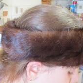 Норковая повязка на голову или снуд на шею, натуральная норка