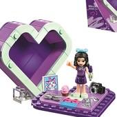 """Готовим подарочки девчонкам! Конструктор аналог legо""""шкатулка-сердечко."""" 87 деталей"""