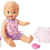 Пупс Пий і міняй підгузок Little mommy drink & wet doll. Оригинал. Пьет, писяет. Коробка повреждена