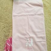 Розовое турецкое полотенце, новое,100% хлопок, р.41*87 ,
