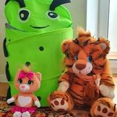 Тигр, котик и мешок для игрушек одним лотом!
