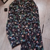 Бомбические брюки кюлоты с разрезами по бокам красивые цветы чит.опис