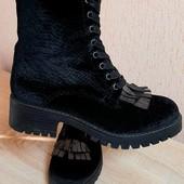Люкс❤Шикарні ботиночки на тракторній підошві демі