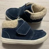 Замшевые Деми ботиночки Kids 31 размер стелька 19 см