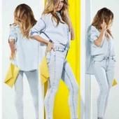Котоновая рубашка оверсайз Esmara с коллекции Heidi Klum S evro 36+6