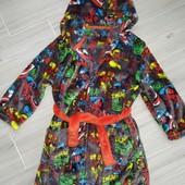 Состояние нового@ Плюшевый халат на мальчика 5-6лет замеры на фото
