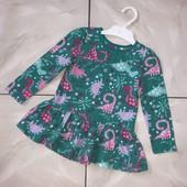 Стоп !❤Динозаврики!яркое фирменное Коттоновое платье для девочки,1 год❤ Много лотов!