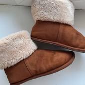 Замшевые угги тапочки Отличное решение для тех,у кого мерзнут ноги на работе,дома. Можно для двора
