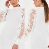 Платье с кружевными рукавами от Missguided
