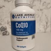 КоэнзимQ10, фармацевтической чистоты (ФСША), 100мг, 360капсул