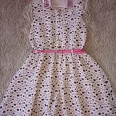 Нарядное платье с котиками George