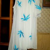 Качество! Белоснежное платье от Ad Lib, в принт вышивка/нашивка