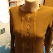 Блузка из шёлка цвета хаки на XS