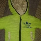 Стильная демисезонная курточку унисекс на 1-2 годика