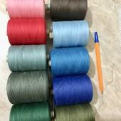 10 кольорів! Нитки швейні х/б №40 довжина 2500м