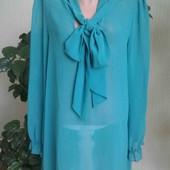 Фирменная женская удлиненная блузка р.16!!!
