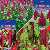 Амарант - сухоцвет семена в ассортименте . Лот 2 пакет на выбор.