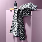 ☘ Жакардовий банний рушник, графічний візерунок від Tchibo (Німеччина), 50 * 100 см