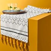 ❖Скатерть-дорожка для украшения стола с бахромой, от тсм Tchibo (чибо), Германия