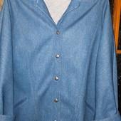 фирменный пиджак финляндия под джинс ткань тянется раз. 38