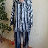 Новая, атласная пижама с хлопковой изнанкой!!! Большой размер.