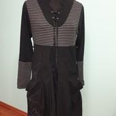 Отличное и удобное платье размера 48-52, есть замеры.