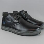 Мужские кожаные зимние ботинки Holaso ! Последний размер!