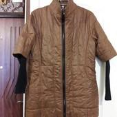 Куртка с трикотажным рукавом демисезон