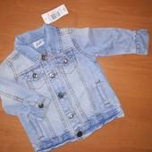 F&F джинсовая куртка на 3-6месяцев, на рост 68