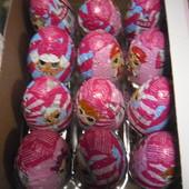 Готовим подарочки)Шоколадные яйца LOL з сюрпризом 25грамм.В лоте 6 штук.
