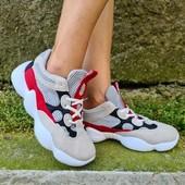 Замшевые яркие кроссовки в стиле Колор Блокинг.37-23.5 см