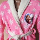 Тепленький м'якенький пухнастий халатик із мікрофібри Disney у відмінному стані 4 роки заміри