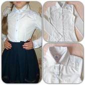 Красивая школьная блузка - рубашка для девочки.Очень нарядная.одна на выбор размер и модель в лоте.