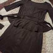Очень крутое платье под замш! Состояние нового