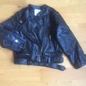 Супер стильна курточка для маленької модниці, шкірозамінник!!!