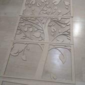 Заготовка для самостійної декорації. Картина-пано Дерево з листям.