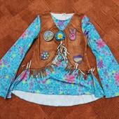 Amscan flower power hippie, карнавальный костюм, туника
