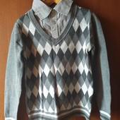 Рубашка обманка- свитер