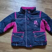 Собирай лоты) Красивенная демисезонная куртка для девочки 1,5- 2,5 лет ( можно и на теплую зиму)