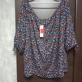 Фирменная новая красивая вискозная блуза р.24-26
