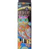 Цветные металлизированные карандаши Yes 6шт. Пастельные тона.