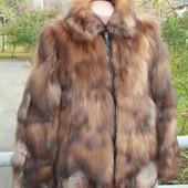 Меховая куртка полушубок лиса l, xl, 2xl