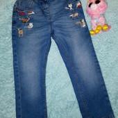 Шикарные фирменные джинсы в идеале+ Пони в подарок!Для девочки 3-4 годика