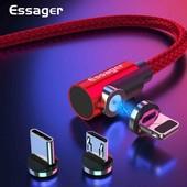 Магнитный кабель 360 градусов для Type-C, IPhone