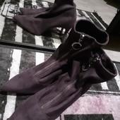 Нереально крутые ботинки эко замш с крутым замком реальный цвет яркие насыщенные фиолетовый камера