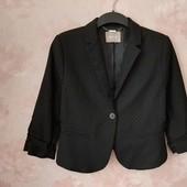 Стильный пиджак , цвет чёрный насыщенный ! УП скидка 10%