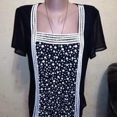 Красивая двойная блузочка с декором 12 размера.